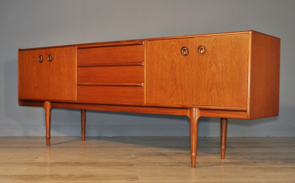 lovely very large retro 1970's mcintosh teak long john sideboard cabinet