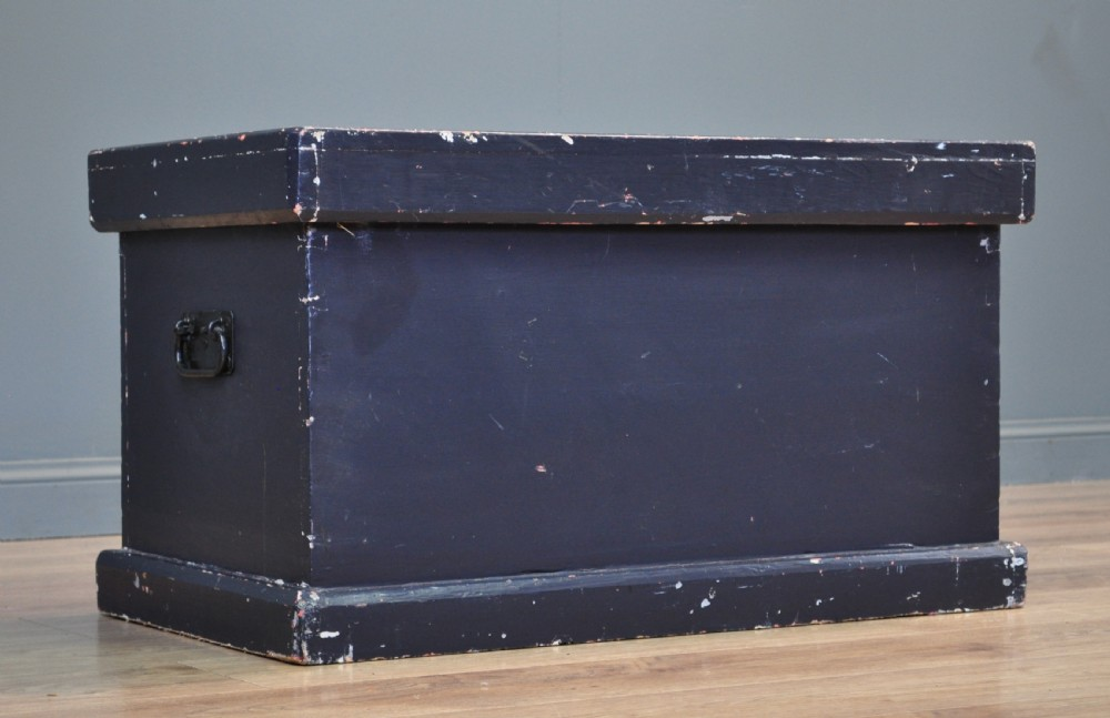 attractive antique victorian painted pine kist chest trunk blanket toy box